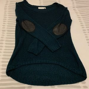 RD Style Pullover Sweater with Leather Elbow Pads